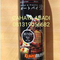 SAMURAI PAINT SPRAY / CAT SEMPROT 109 BLACK / HITAM 400ml