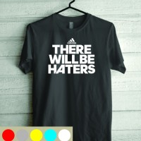 Kaos Tshirt Baju Combed 30S Adidas There Will BE Haters Benzema Bale