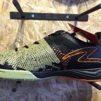 Sepatu futsal specs Metasala Combat woodbine black orange machisto o