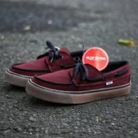 Sepatu Vans Zapato Merah Maroon Sol Gum Impor Vietnam