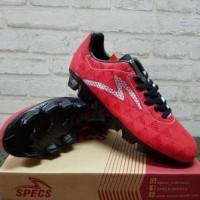 Sepatu Bola Specs Quark Chestnut Red 100757 Original