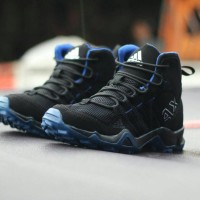 Fashion Pria / Sepatu Sneakers /Adidas AX2 High/Black blue