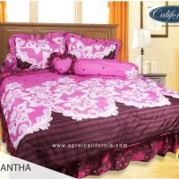 bedcover set my love california warna pink 180 x 200 ori lembut