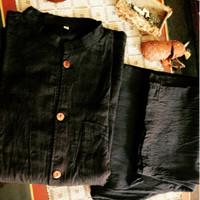 pangsi tenun handmade etnik baduy  hitam atasan dan bawahan