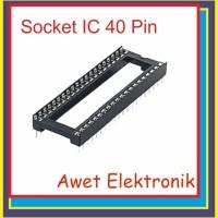 soket ic 40 pin 2x20 untuk atmega 16 32 8535