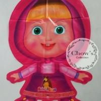Balon Foil Karakter Marsha and The Bear Pink Murah