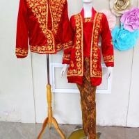 Kebaya Couple Kutubaru Jawa Baju Pengantin Elegant Free Selop 2 pasang