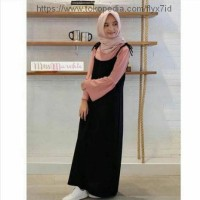 Zahira set / baju setelan overal dress muslimah / gamis remaja cantik