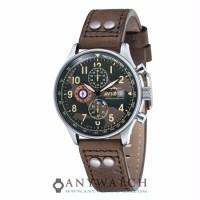 AVI 8 Man Hawker Hurricane Watch Camouflage DialBrownLeatherAV 4011