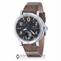 AVI 8 Man Lancaster Bomber Watch Black Dial Brown Leather AV 4038 01