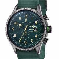 AVI 8 Hawker Hunter Watch Green Dial Army Green Leather AV 4036 08