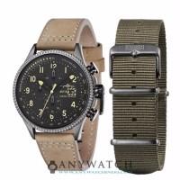 AVI 8 Man Hawker Hunter Watch Grey Dial Cream Leather AV 4036 06
