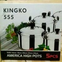 PANCI SET STAINLESS Steel KINGKO 555 murah Peralatan masak