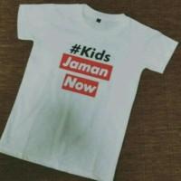 Kaos Tshirt Baju Combed 30S Distro Kids Jaman Now