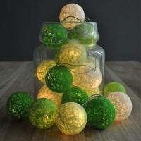 Green Cotton Ball LED Light