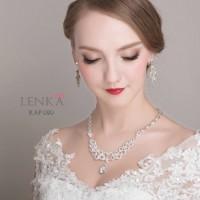 Perhiasan Set Kalung Anting Crystal Pesta Pengantin Wnita Lenka KAP020