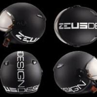 ZEUS 210 matt black doff hitam dop momo design ITALY DD11 helm retro