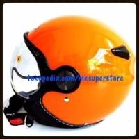 ZEUS 210 HELM CLASSIC RETRO IMPOR ORANGE ORANYE M L XL
