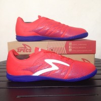 special Sepatu Futsal Specs Apache IN Red Poppy 400567 Original BNIB