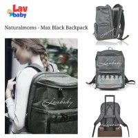 BLACK - Natural Moms Max Backpack Cooler bag