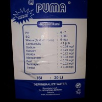 Air aki ,Air Accu , Demineralize water PUMA
