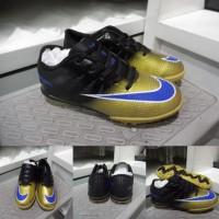 Sepatu Futsal Anak Nike Mercurial Superfly CR7 TF Kids Black Gold