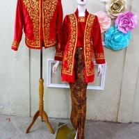 Kebaya Kutubaru Couple Baju Pengantin Jawa Free Selop 2 pasang