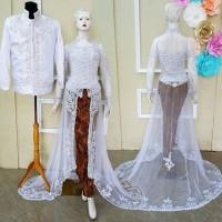 Kebaya Akad Couple Baju Pengantin Free Rok & Selop 2 pasang