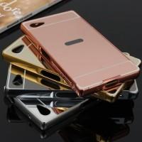 Sony Z5 Premium Bumper Mirror Back Aluminium Hard Case Cover Casing