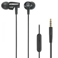 Audio Technica ATH-CLR100iS Headset Black   Earphone with Mic Hitam