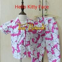 Piyama Anak 1-4thn HELLO KITTY FACE l Baju Tidur