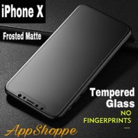 TEMPERED GLASS SCREEN PROTECTOR PREMIUM FROSTED MATTE APPLE iPhone X