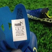 Sepatu Bola Puma EvoSpeed SL Biru Hitam Murah
