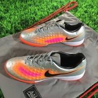 Sepatu Futsal Nike Magista II Onda IC - Silver Orange Diskon