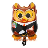 balon foil owl wisuda / balon wisuda mini / balon graduation