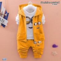 Baju Setelan Anak Laki-Laki/Cowok - Setelan minion mustard-st mion