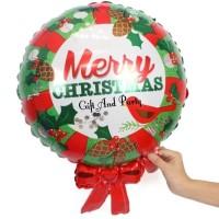Balon Foil Merry Christmas/ Balon Natal/ Balon Xmas/Perlengkapan Natal