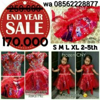 ND OF YEAR SALE !!! Dress Frozen Edisi Imlek - Kostum Princess Anak