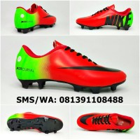 Sepatu Sepak Bola Anak Nike Mercurial Merah Hitam Hijau Stabilo 2018