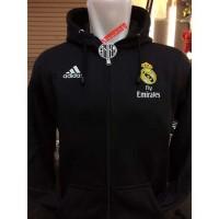 Jaket Madrid Hitam Sleting Hoodie Bola Bukan Baju Batik