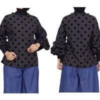 Baju Atasan Wanita / Blouse Warna Hitam Bahan Katun