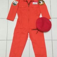 Baju Kostum Karnaval Anak Profesi AU Pilot Pesawat Tempur Skuadron