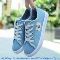 AK MD050 biru Muda VAN OFF THE WALL SEPATU WANITA