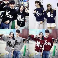 Baju Couple Sweater Kapel Terbaru 16286 Lp You Me