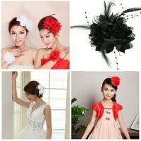 Hairpin hairclip corsage bunga wedding hiasan rambut sanggul pengantin