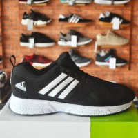 Grosir Sepatu Casual Murah Adidas Climacool New Black White GO