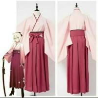 yukata hakama kimono baju adat / tradisional jepang sakura saber