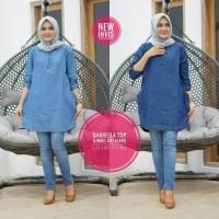 Baju Atasan Wanita Muslim Blouse Jeans Sharlla Top
