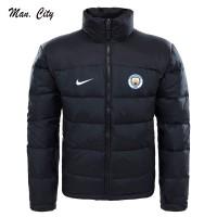 Jaket Parasut Tebal Hitam Manchester City