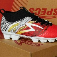 Sepatu Bola Specs Heritage FG Emperor red gold white
